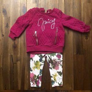 Baby girls juicy couture sweatsuit